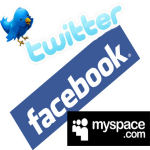 Twitter MySpace Facebook